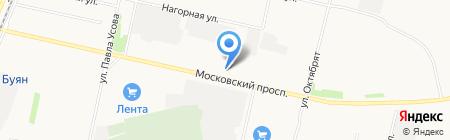 Берин на карте Архангельска