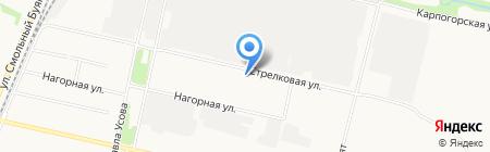 Шиномонтажная мастерская на Стрелковой на карте Архангельска