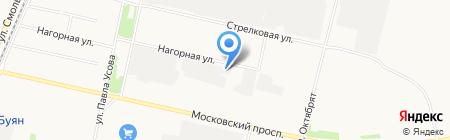 Автомастерская на ул. Касаткиной на карте Архангельска