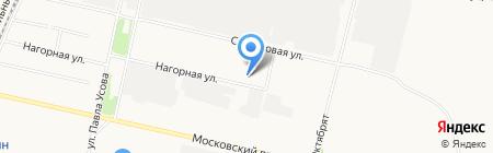 Лаура–Архангельск на карте Архангельска