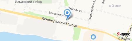 Буфет на Ленинградском проспекте на карте Архангельска