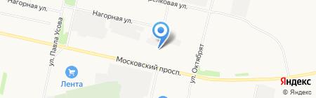 Автомастерская на Московском проспекте на карте Архангельска
