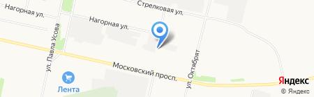 Автомойка на авторынке на карте Архангельска