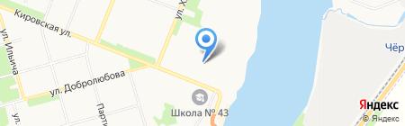 Библиотека №18 на карте Архангельска