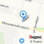 Новосёл на карте Архангельска