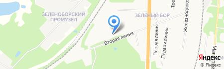 Настена на карте Архангельска