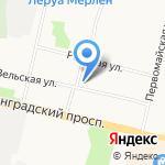 Служба эвакуации автомобилей на карте Архангельска