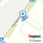 Автокомплекс на Талажском на карте Архангельска