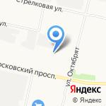 Серебряная ладья на карте Архангельска