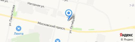 М8 на карте Архангельска
