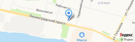 Общеобразовательный эколого-биологический лицей на карте Архангельска
