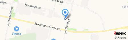 Магазин автотоваров на карте Архангельска