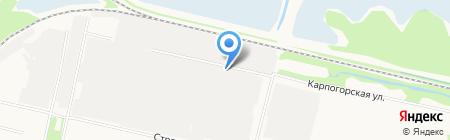 Отделение ГИБДД по Приморскому району на карте Архангельска