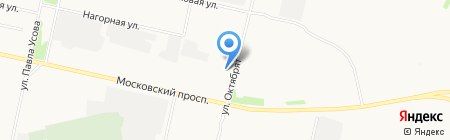 Магазин автозапчастей для Газ на карте Архангельска
