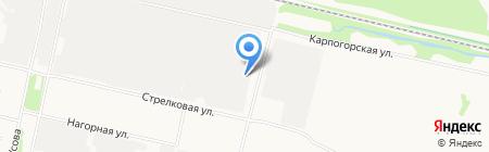 Мысль на карте Архангельска