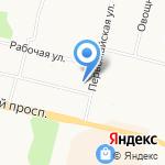 Луч на карте Архангельска