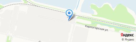 Стелла на карте Архангельска