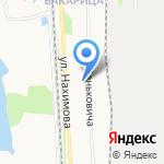 Исакогорская библиотека №12 на карте Архангельска