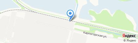 Волна на карте Архангельска