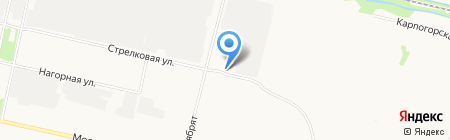 Стрелка рулит на карте Архангельска