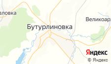 Отели города Бутурлиновка на карте