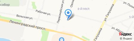 Детский сад №7 Семицветик на карте Архангельска