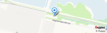 Лада-2 на карте Архангельска