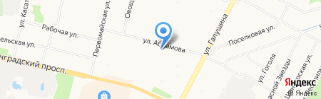 Гора на карте Архангельска