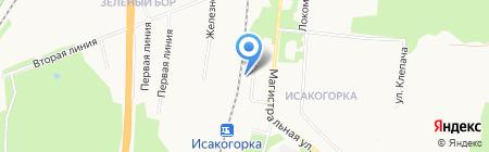 Исакогорка на карте Архангельска