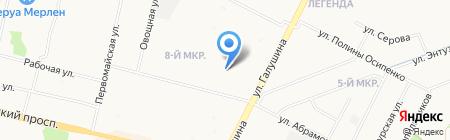 Почтовое отделение связи №9 на карте Архангельска