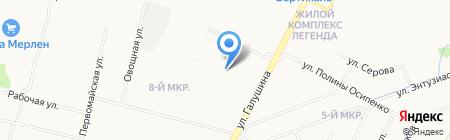 Детский сад №157 Сиверко на карте Архангельска