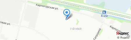 Совенок на карте Архангельска