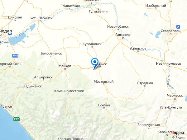 поселок Восточный на карте