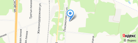 Дом культуры железнодорожников на карте Архангельска
