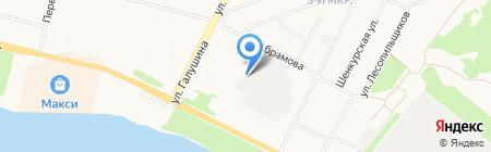 Эвентус на карте Архангельска