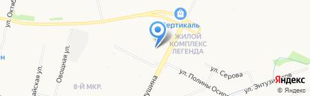 Ильма на карте Архангельска