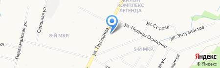 Красная строка на карте Архангельска