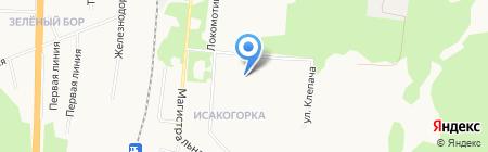 Средняя общеобразовательная школа №34 на карте Архангельска