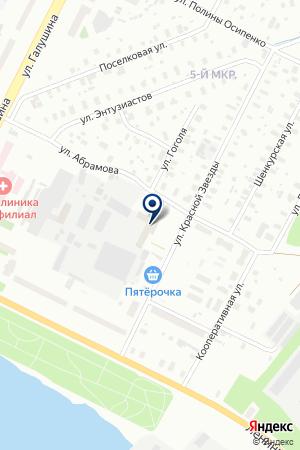 Миг на карте Архангельска