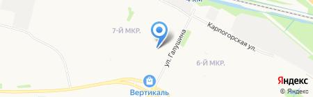 Почтовое отделение связи №65 на карте Архангельска