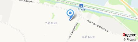 Архангельская средняя общеобразовательная школа Соловецких юнг на карте Архангельска