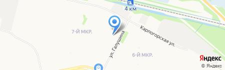 Алюр на карте Архангельска