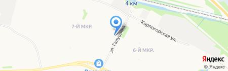 Аран на карте Архангельска