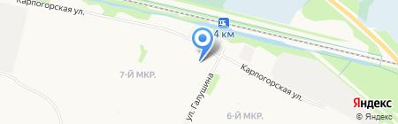 Северный хостел на карте Архангельска