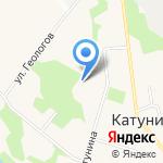 Катунинская средняя школа на карте Архангельска