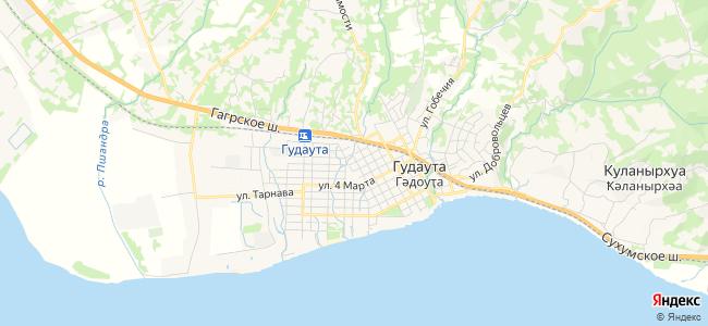 Дома Гудауты под-ключ - объекты на карте