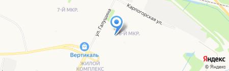 Детский сад №186 Веснушка на карте Архангельска