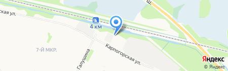 Автодевайс на карте Архангельска