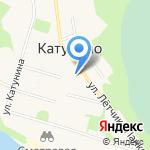 Катунино на карте Архангельска