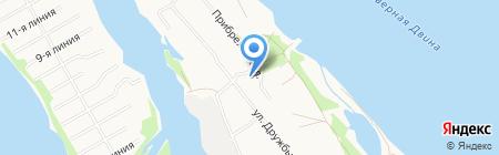 Викинг на карте Архангельска
